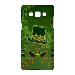 Happy St  Patrick s Day With Clover Samsung Galaxy A5 Hardshell Case  by FantasyWorld7
