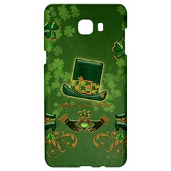Happy St  Patrick s Day With Clover Samsung C9 Pro Hardshell Case  by FantasyWorld7