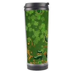 Happy St  Patrick s Day With Clover Travel Tumbler by FantasyWorld7