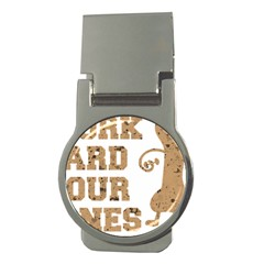 Work Hard Your Bones Money Clips (round)  by Melcu