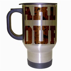 Work Hard Your Bones Travel Mug (silver Gray) by Melcu