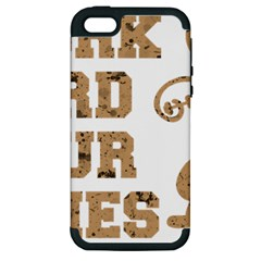 Work Hard Your Bones Apple Iphone 5 Hardshell Case (pc+silicone) by Melcu