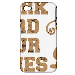 Work Hard Your Bones Apple Iphone 4/4s Hardshell Case (pc+silicone) by Melcu