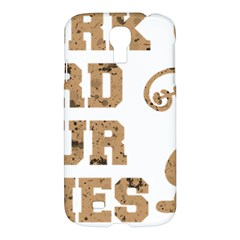 Work Hard Your Bones Samsung Galaxy S4 I9500/i9505 Hardshell Case by Melcu