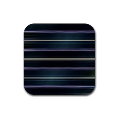 Modern Abtract Linear Design Rubber Coaster (square)  by dflcprints