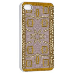 Gothic In Modern Stars And Pearls Apple Iphone 4/4s Seamless Case (white) by pepitasart