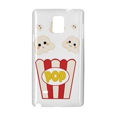 Cute Kawaii Popcorn Samsung Galaxy Note 4 Hardshell Case by Valentinaart