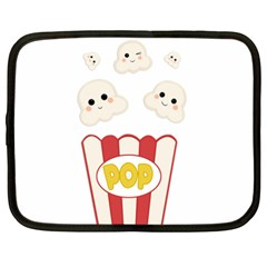 Cute Kawaii Popcorn Netbook Case (xxl)  by Valentinaart