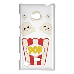 Cute Kawaii Popcorn Nokia Lumia 720 by Valentinaart