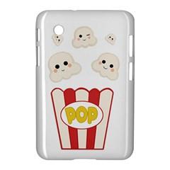 Cute Kawaii Popcorn Samsung Galaxy Tab 2 (7 ) P3100 Hardshell Case  by Valentinaart