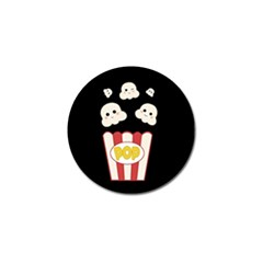 Cute Kawaii Popcorn Golf Ball Marker by Valentinaart