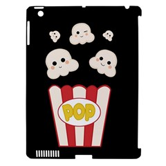 Cute Kawaii Popcorn Apple Ipad 3/4 Hardshell Case (compatible With Smart Cover) by Valentinaart