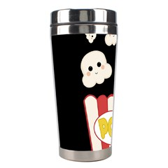 Cute Kawaii Popcorn Stainless Steel Travel Tumblers by Valentinaart