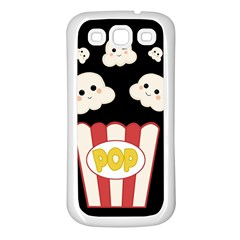 Cute Kawaii Popcorn Samsung Galaxy S3 Back Case (white) by Valentinaart