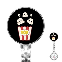 Cute Kawaii Popcorn Stainless Steel Nurses Watch by Valentinaart