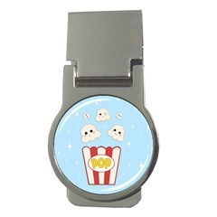 Cute Kawaii Popcorn Money Clips (round)  by Valentinaart