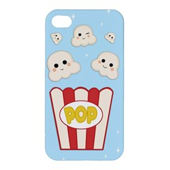 Cute Kawaii Popcorn Apple Iphone 4/4s Premium Hardshell Case by Valentinaart
