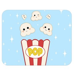 Cute Kawaii Popcorn Double Sided Flano Blanket (medium)  by Valentinaart