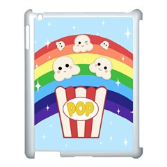 Cute Kawaii Popcorn Apple Ipad 3/4 Case (white) by Valentinaart