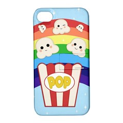 Cute Kawaii Popcorn Apple Iphone 4/4s Hardshell Case With Stand by Valentinaart