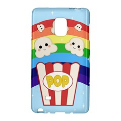 Cute Kawaii Popcorn Galaxy Note Edge by Valentinaart