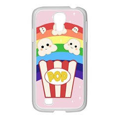Cute Kawaii Popcorn Samsung Galaxy S4 I9500/ I9505 Case (white) by Valentinaart