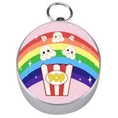 Cute Kawaii Popcorn Silver Compasses by Valentinaart