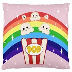 Cute Kawaii Popcorn Standard Flano Cushion Case (one Side) by Valentinaart