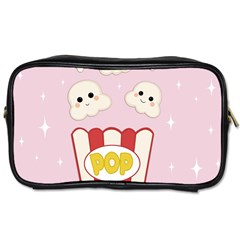 Cute Kawaii Popcorn Toiletries Bags 2 Side by Valentinaart