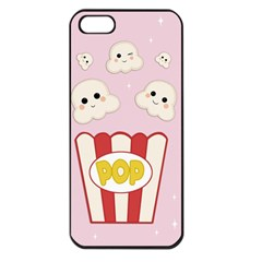 Cute Kawaii Popcorn Apple Iphone 5 Seamless Case (black) by Valentinaart
