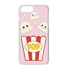 Cute Kawaii Popcorn Apple Iphone 8 Plus Seamless Case (white) by Valentinaart