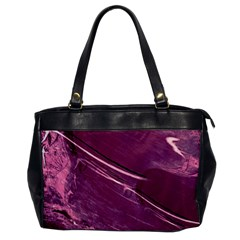 Hot Magenta Abstract Textured Fractal, Inspired By A Butterfly s Wing Office Handbags by douxsurmoi