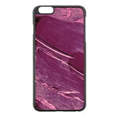 Hot Magenta Abstract Textured Fractal, Inspired By A Butterfly s Wing Apple Iphone 6 Plus/6s Plus Black Enamel Case by douxsurmoi
