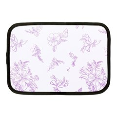 Beautiful,violet,floral,shabby Chic,pattern Netbook Case (medium)