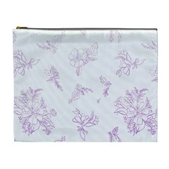 Beautiful,violet,floral,shabby Chic,pattern Cosmetic Bag (xl) by 8fugoso