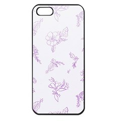 Beautiful,violet,floral,shabby Chic,pattern Apple Iphone 5 Seamless Case (black) by 8fugoso