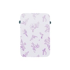 Beautiful,violet,floral,shabby Chic,pattern Apple Ipad Mini Protective Soft Cases by 8fugoso