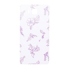 Beautiful,violet,floral,shabby Chic,pattern Samsung Galaxy Alpha Hardshell Back Case by 8fugoso
