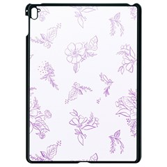 Beautiful,violet,floral,shabby Chic,pattern Apple Ipad Pro 9 7   Black Seamless Case by 8fugoso