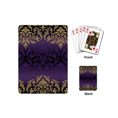 Art Nouveau,vintage,damask,gold,purple,antique,beautiful Playing Cards (mini)  by 8fugoso