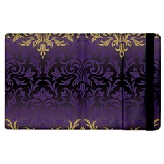 Art Nouveau,vintage,damask,gold,purple,antique,beautiful Apple Ipad 3/4 Flip Case by 8fugoso