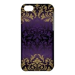 Art Nouveau,vintage,damask,gold,purple,antique,beautiful Apple Iphone 5c Hardshell Case by 8fugoso