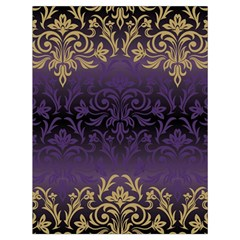 Art Nouveau,vintage,damask,gold,purple,antique,beautiful Drawstring Bag (large) by 8fugoso