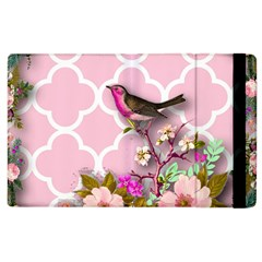 Shabby Chic, Floral,pink,birds,cute,whimsical Apple Ipad 2 Flip Case by 8fugoso