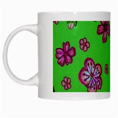 Visions Of Pink White Mugs by dawnsiegler