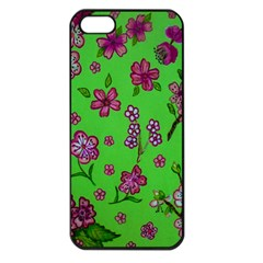 Visions Of Pink Apple Iphone 5 Seamless Case (black) by dawnsiegler