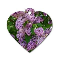 Lilacs 2 Dog Tag Heart (one Side) by dawnsiegler