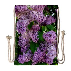 Lilacs 2 Drawstring Bag (large) by dawnsiegler