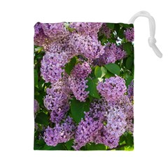 Lilacs 2 Drawstring Pouches (extra Large) by dawnsiegler