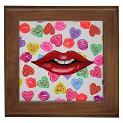 Aahhhh Candy Framed Tiles by dawnsiegler